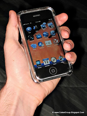 Transparent iphone screen