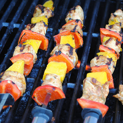 Chicken And Mango Skewers Recipe — Dishmaps