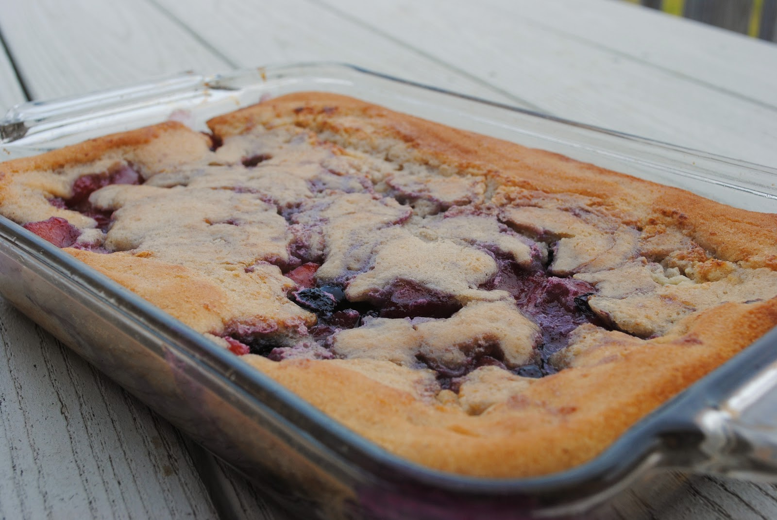 Homemade By Holman: Peach Blueberry Cobbler