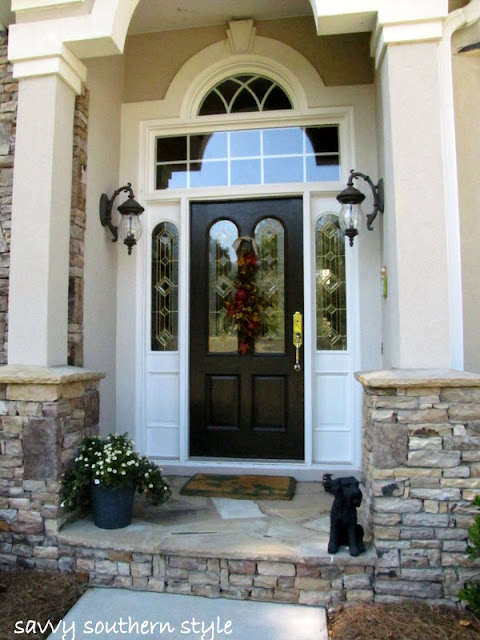 savvy southern style   front door tutorial