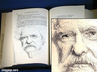 Mark Twain - (i) inspired by photo by A. F. Bradley