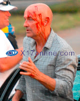 Over the weekend the LOST cast and crew filmed a car crash scene for Episode  Episode 5x06 - More Set Photos of Locke's Car Crash