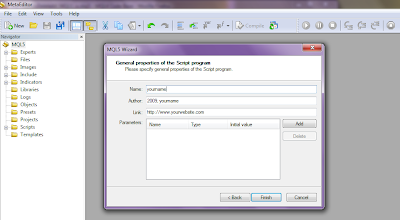 Delete all Objects Script for Metatrader 5