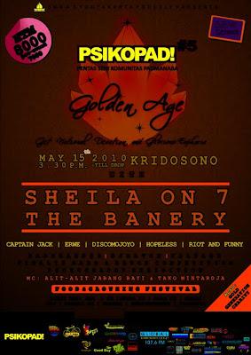 PSIKOPAD#5 SMANEGERI 3 YOGYAKARTA ( Acara Band ) Sheilaon7, TheBanery, Captain Jack