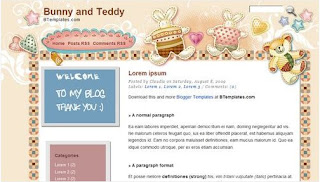 Image Free Templates Bunny and Teddy