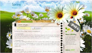Free Blog Templates Spring Flowers