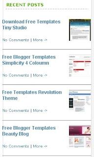 images Cara Membuat Recent Post dengan Thumbnails