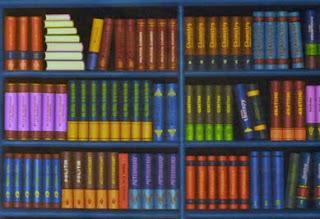 Backgrounds rak buku atau lemari Buku