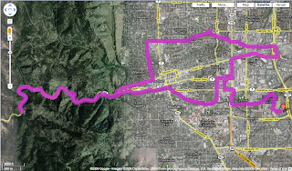 map of bike ride in Boulder