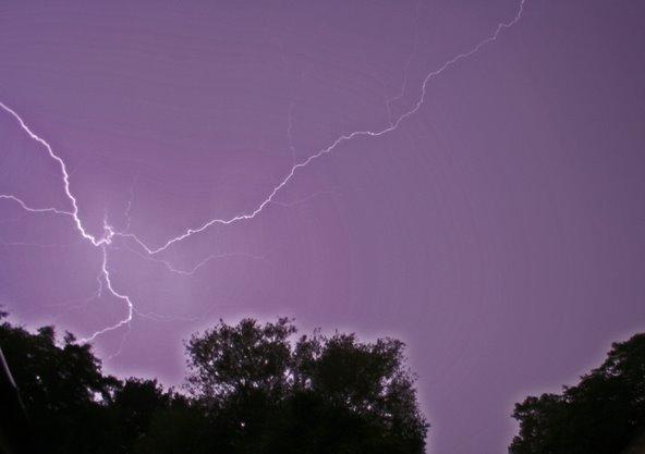 Lightning over Diss, Norfolk