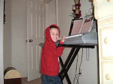 Carter playing the keyboard