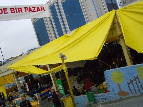 Organic farmer's market in Bomonti, Istanbul.
