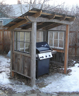 Montana Wildlife Gardener: Grill shed
