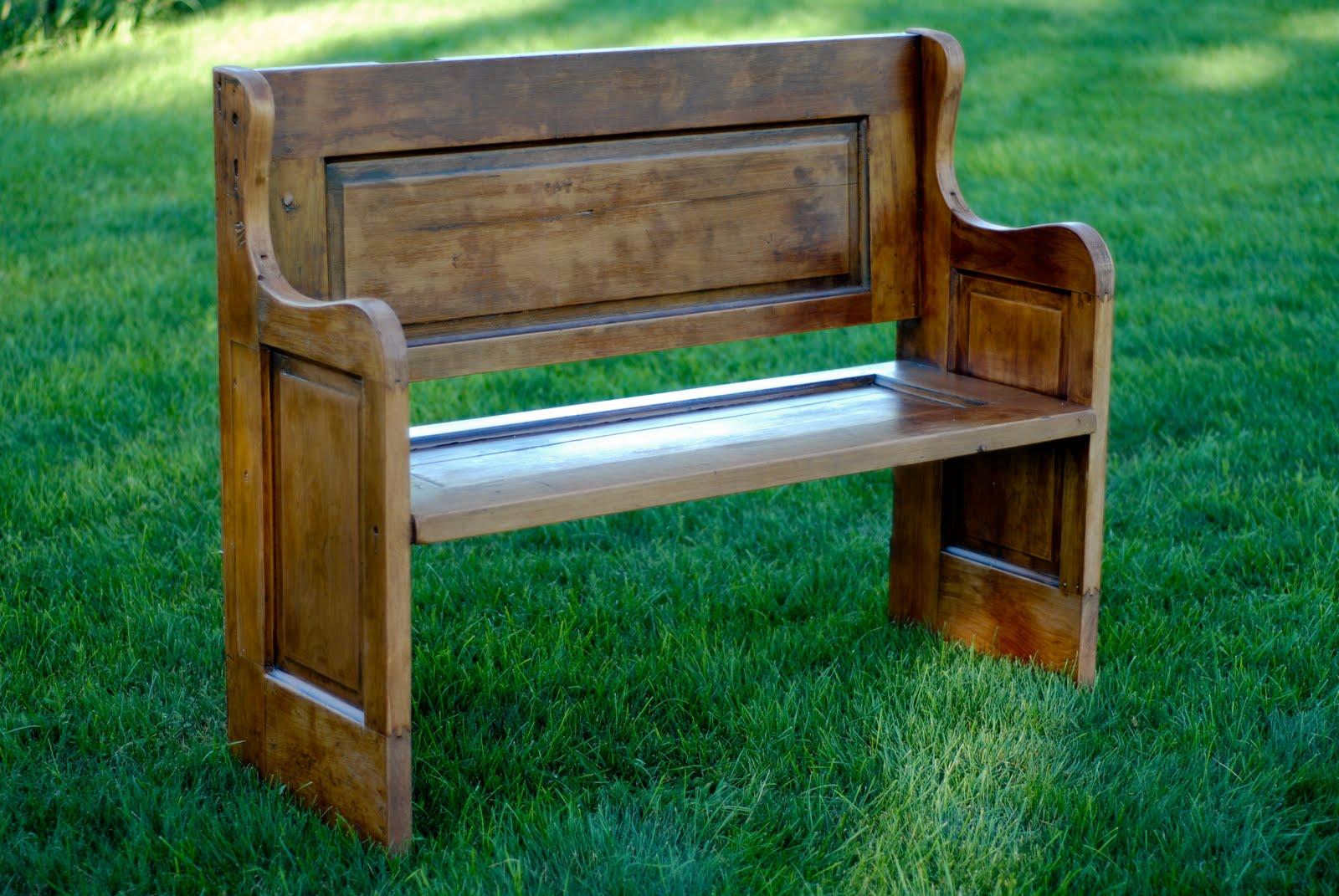 Refinished Wood Door Bench