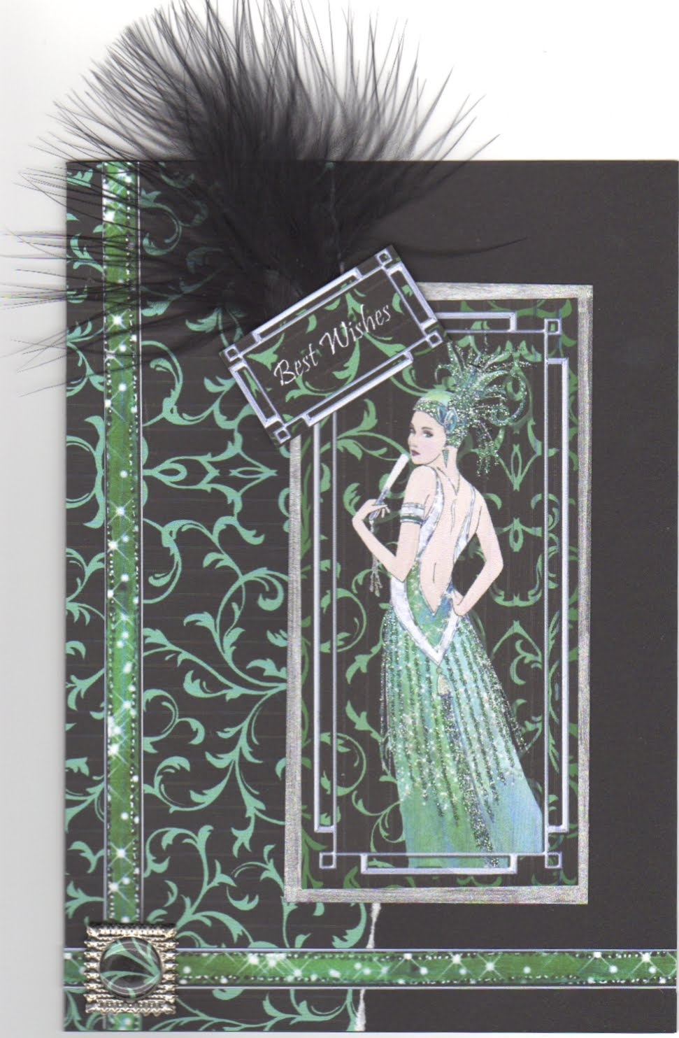 Birthday card for a lady. Images from Debbie Moore Glitz & Glamour CD