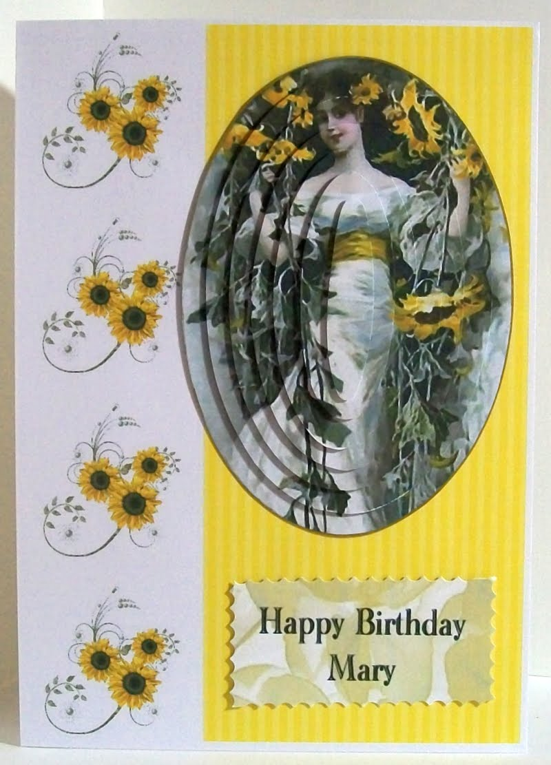 Ooh la la Fleur D'imaganation card. A birthday card a