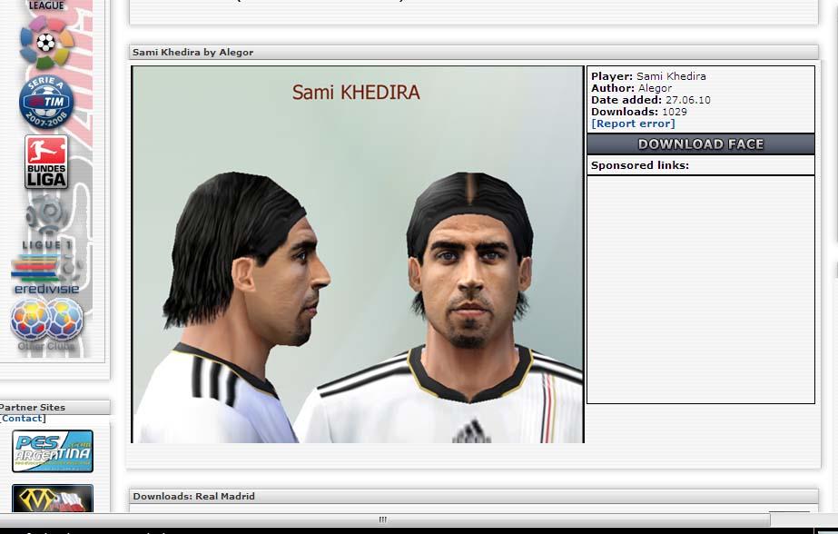screenshoot sami khedira di pesfaces.co.uk