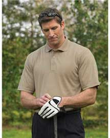 Tri Mountain Micromesh Polo Golf Shirt