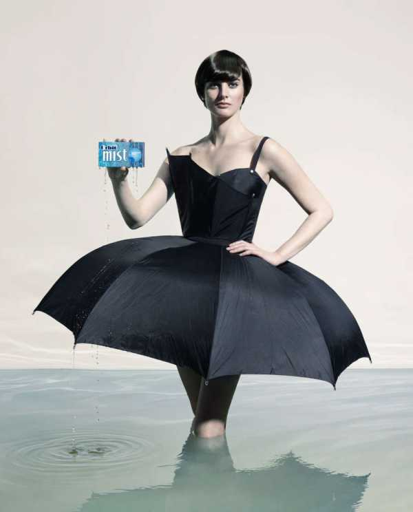 Feeling of water in advertising Orbit Mist