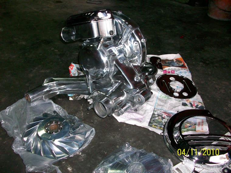 vespa px150 engine crome.