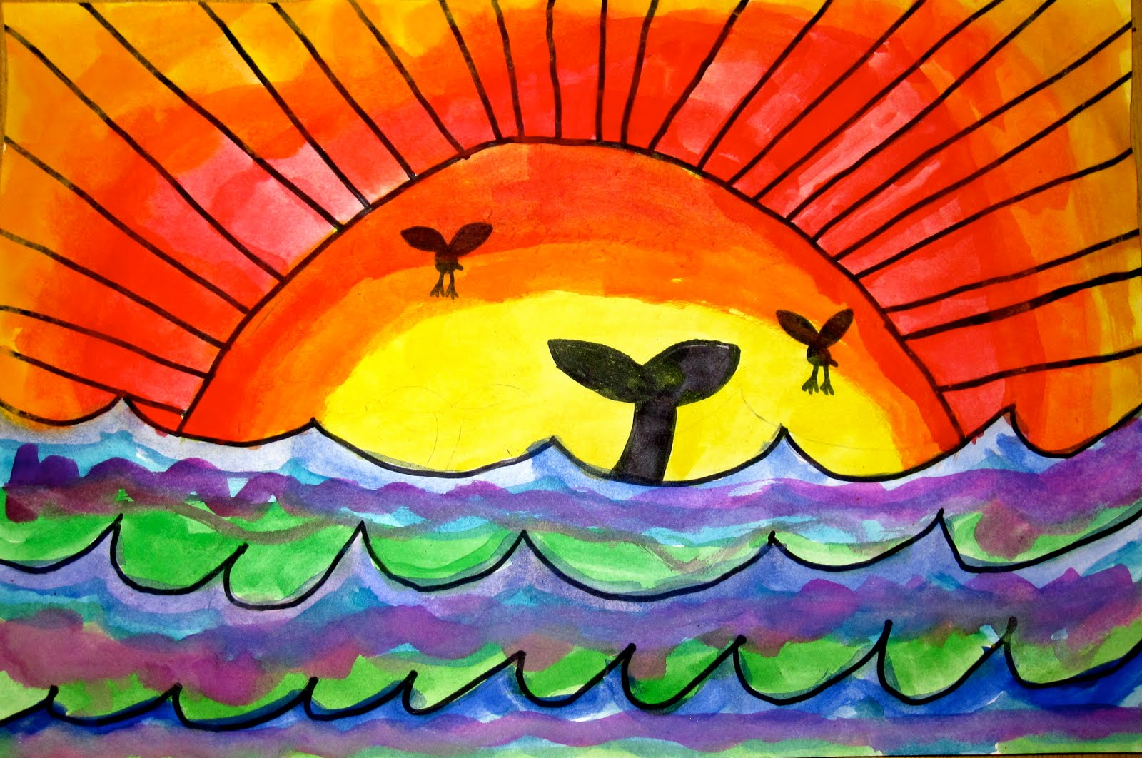 Art Explorium: Warm/Cool Sunsets