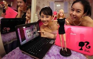 notebook Samsung X170 Berbie Edition