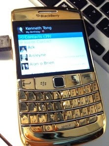 blackberry plateg gold 24k