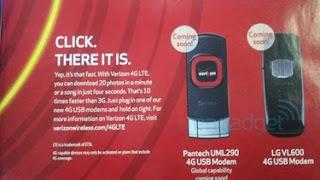 LG and Pantech UML290 VL600 4G