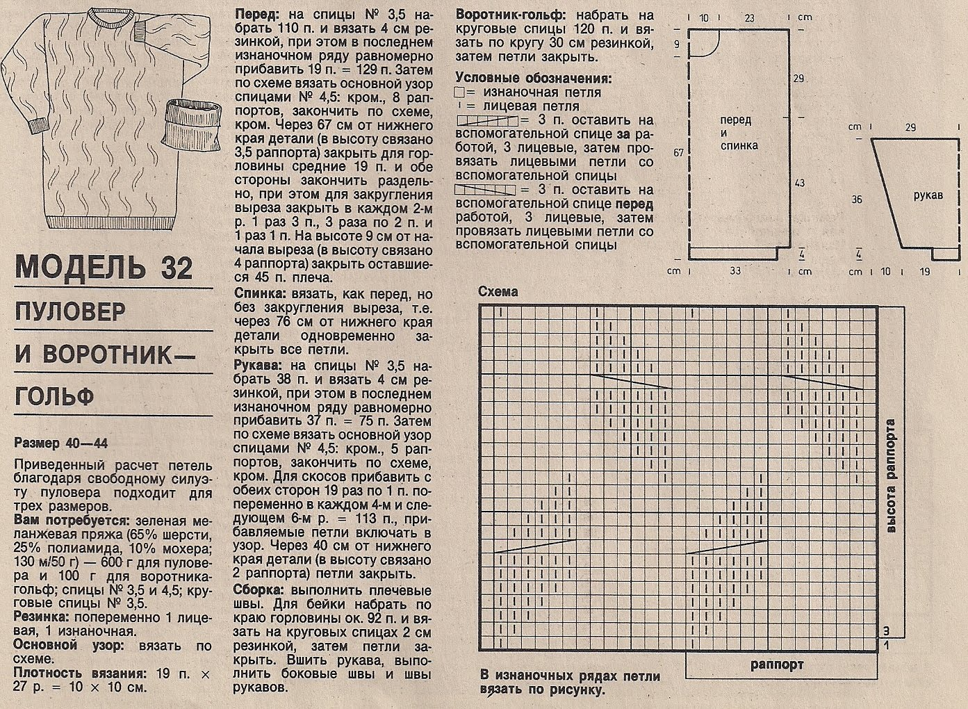 Калькулятор расчета петель для вязания спицами 82