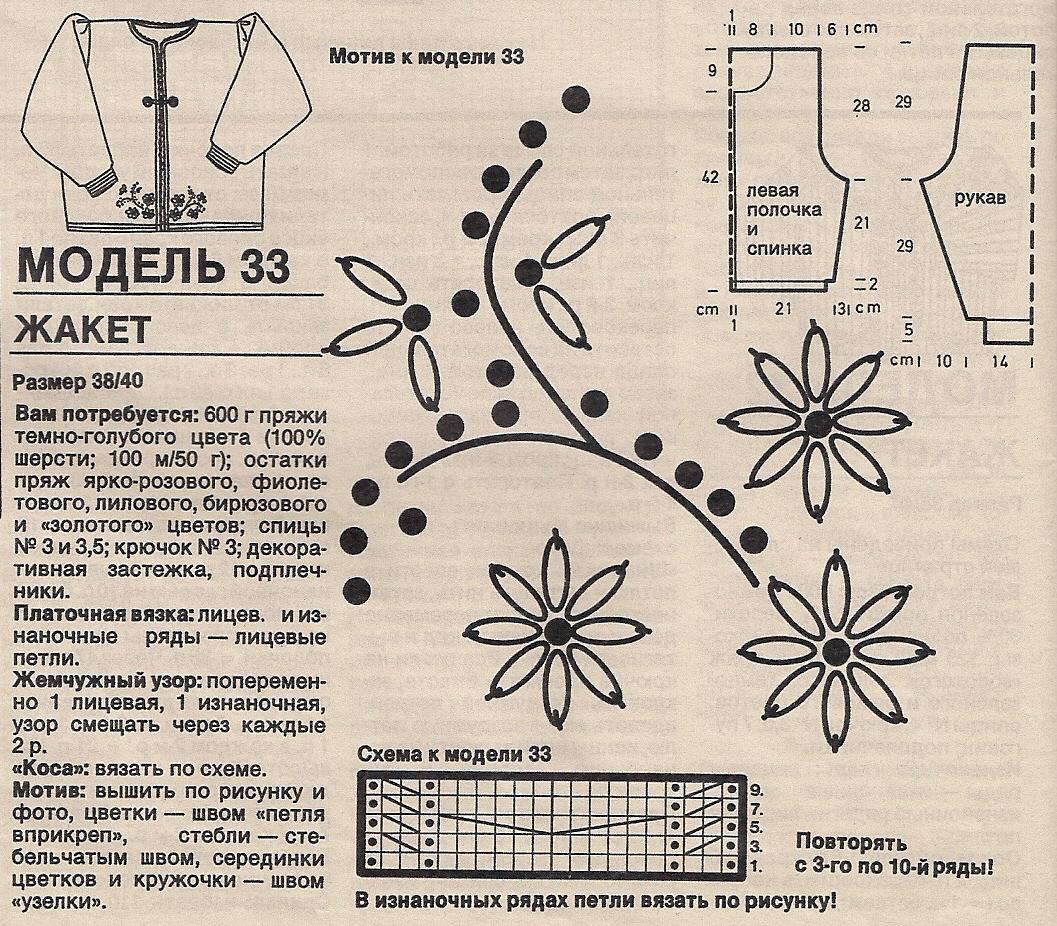 Схемы вышивок по трикотажу петля в петлю 109