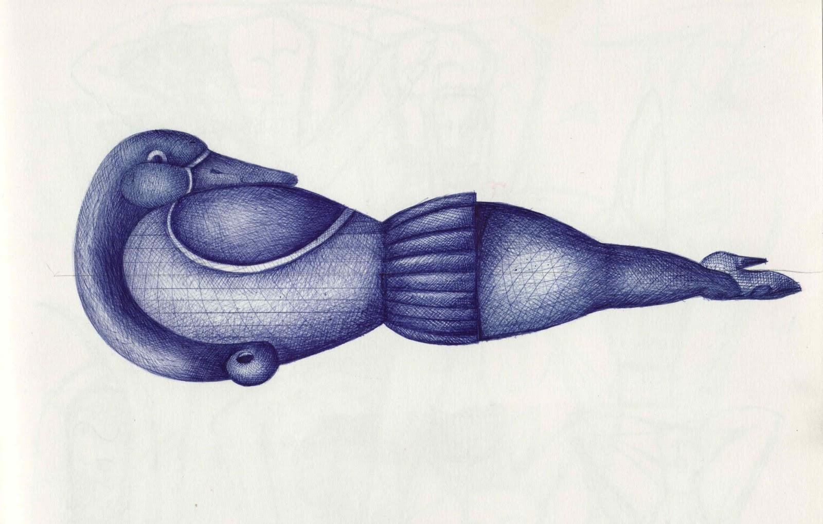 eugene hŐn ceramic artist ballpoint pen drawing technique a