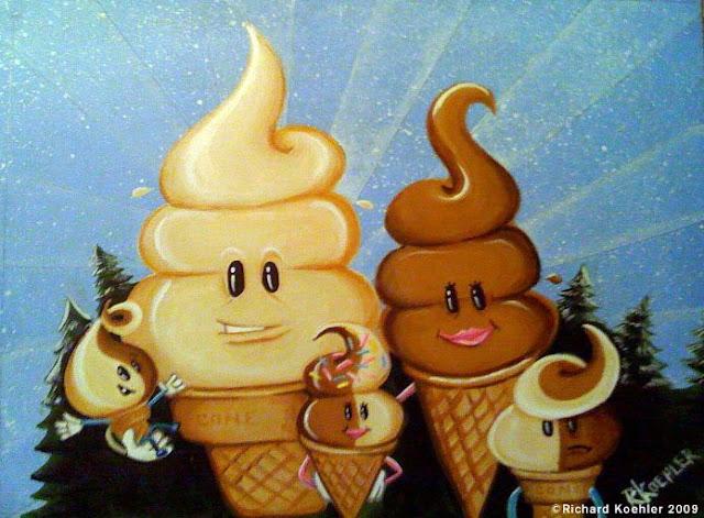 Kreasi Gokil Dengan Es Krim