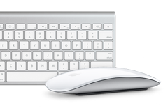 Apple-iMac wireless keyboard and mouse with Multi-Touch technology