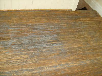 Knatolees World Floor Transformation - Chemical stripping hardwood floors