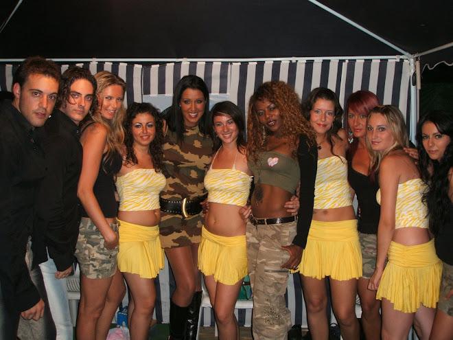Con Nuria Bermudez y su grupo