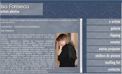 Isa Fonseca - Site da artista