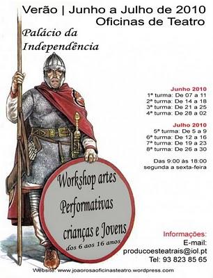 Workshop de Artes Performativas para crianças e Jovens - últimas vagas!