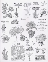 &#39;GARDEN&#39; stamp sheet