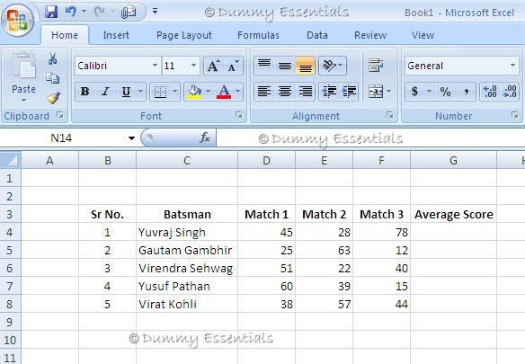 Dummy Essentials Average In Ms Excel 2007