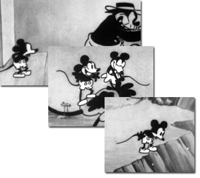 Black And White Mickey Mouse Cartoon. In the beginning, Mickey