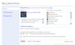 Google profile card view