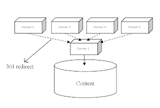 domain pointing with 301 redirect