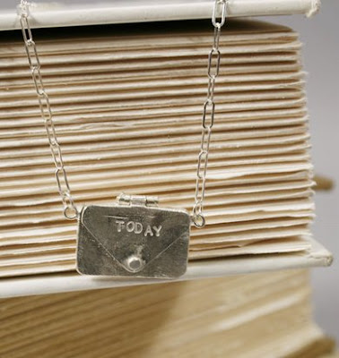 letter envelope necklace pendent