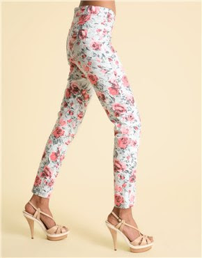 printed flower leggings