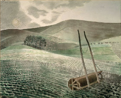 Eric Ravilious: Downs in Winter, 1934