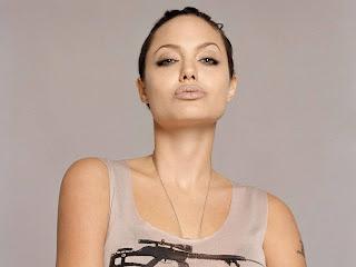 Anglina Jolie with Sniper Rifle T-Shirt HD Wallpaper