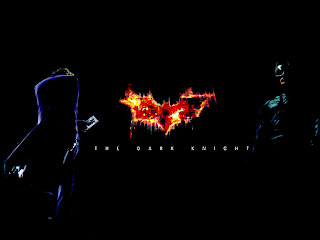Joker and Batman Flaming Bat Logo HD Wallpaper