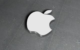 Apple 3D Logo on Wall HD Wallpaper