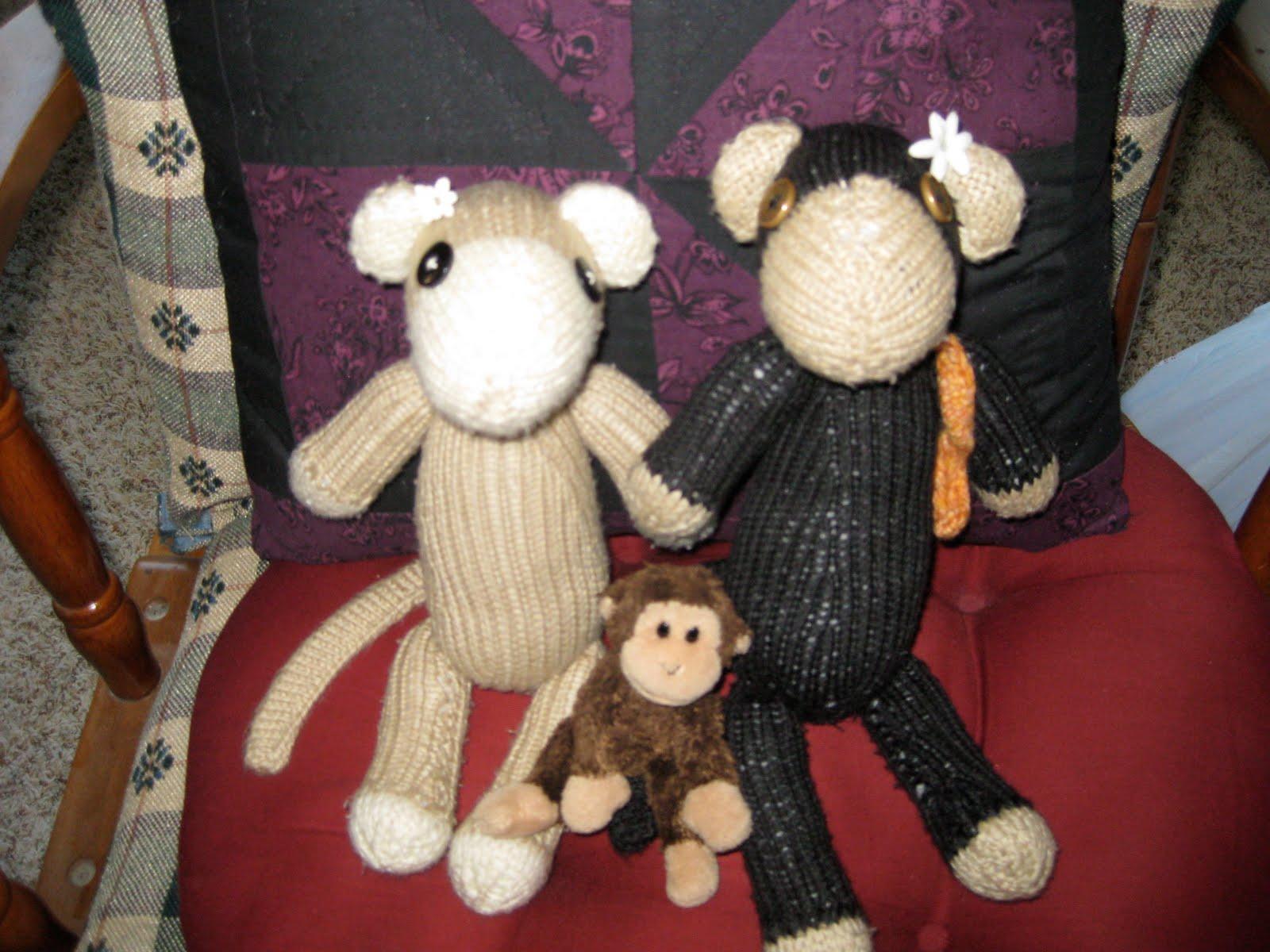 Вязание обезьянки бони 46