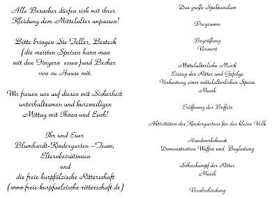 blumhardt kindergarten: 2010, Einladung